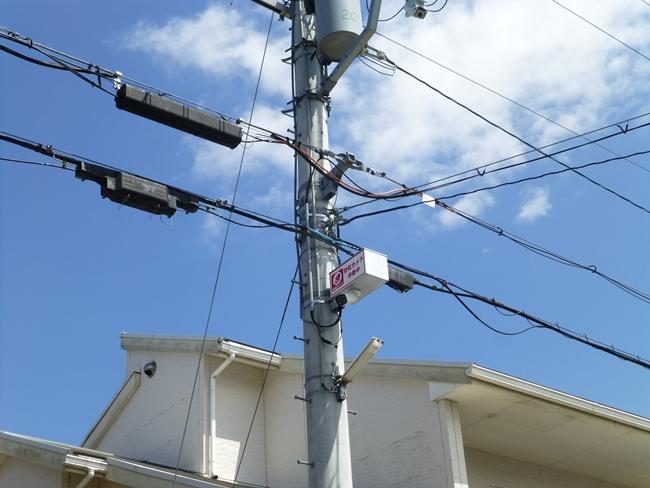 野洲市某自治会様 電信柱設置