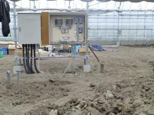 ビニールハウス内の給排水工事のご依頼をいただきました。