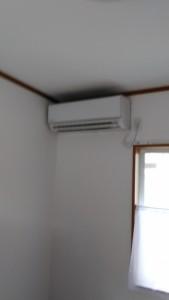大津市のお客様からエアコンの移設のご依頼をいただきました。