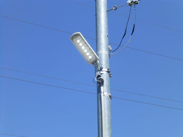 LED防犯灯の取付のご依頼をいただきました。