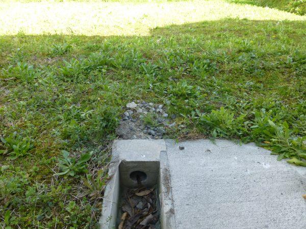 U字溝の排水工事をさせていただきました。