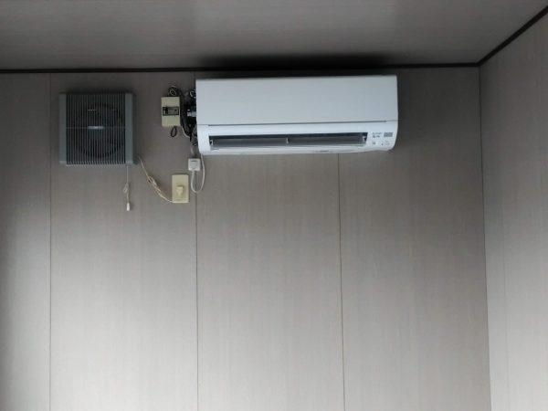 エアコン取付工事のご依頼をいただきました。