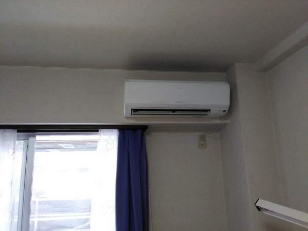 エアコン移設工事のご依頼をいただきました。