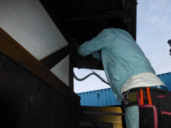 台風により漏電した電線の修理のご依頼をいただきました。
