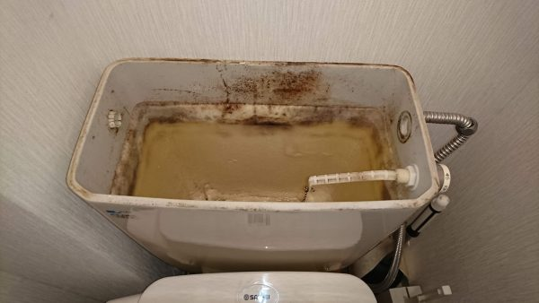 トイレ水漏れ修理のご依頼をいただきました。