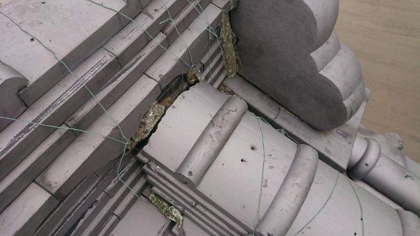 屋根瓦修理のご依頼をいただきました。