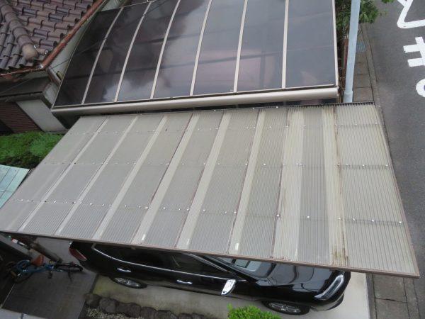 雨樋修理とカーポートの波板張替のご依頼をいただきました。