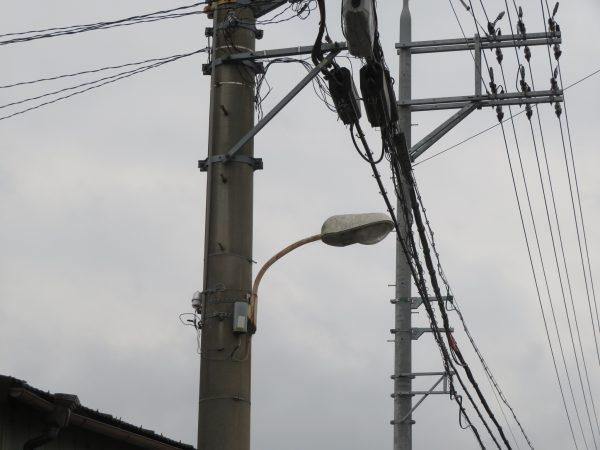 防犯灯の取り替え工事をさせていただきました。