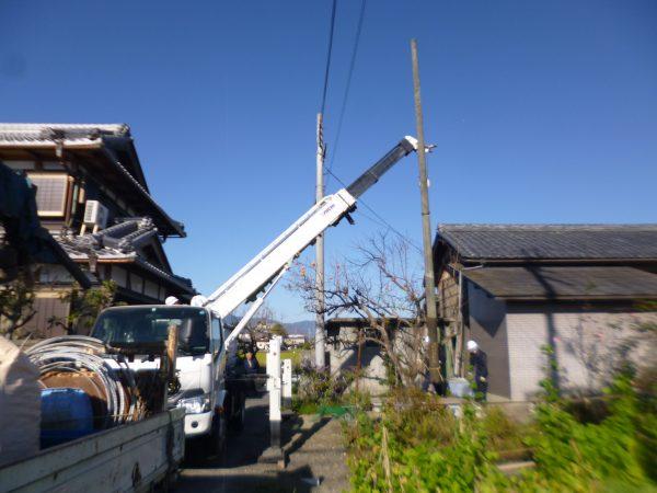 使われていない電柱の撤去のご依頼をいただきました。