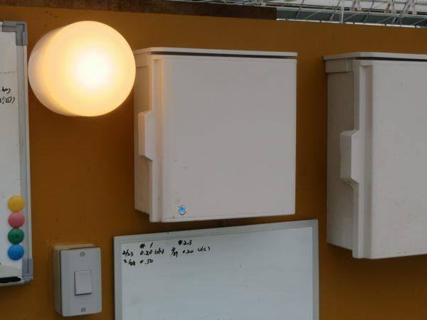 ビニールハウス内の電気工事のご依頼をいただきました。