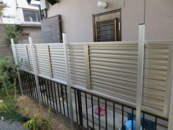 フェンスの設置をさせていただきました。