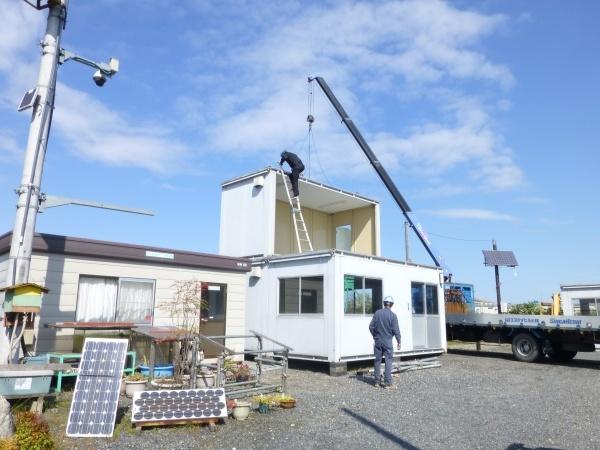 草津工事受付センターを増築しています。