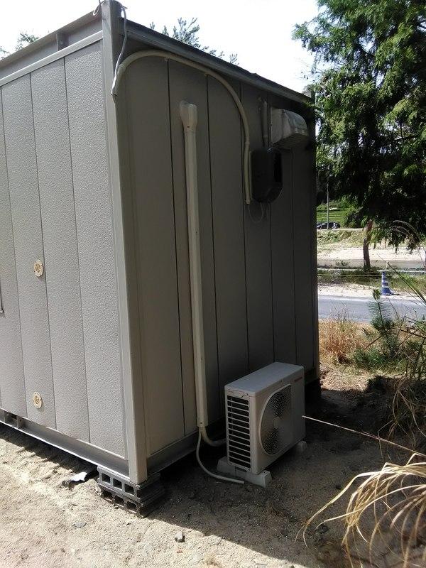 エアコン設置工事のご依頼をいただきました。
