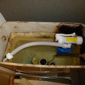 トイレ水漏れ修理(ボールタップ交換)のご依頼をいただきました。