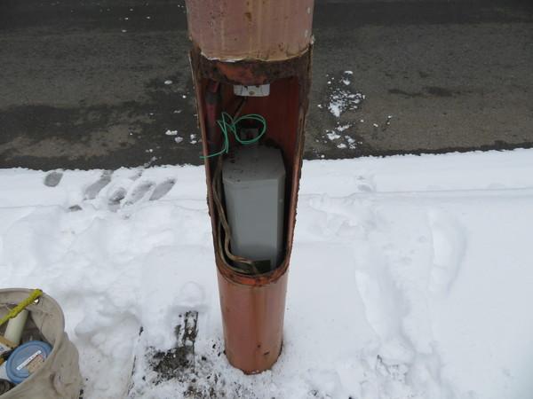 街灯の安定器の交換のご依頼をいただきました。