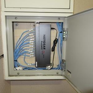 ネットワーク設備の交換をさせていただきました。
